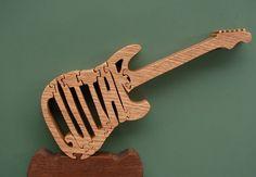 Guitare à la main Puzzle sur la scie à par DukesScrollSaw sur Etsy