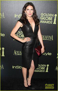 How To Get Away With Murder's Karla Souza & Katie Findlay Celebrate The Golden Globes | alfie enoch katie findlay murder cast hfpa event 04 - Photo