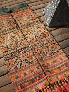 Embroided Textile Tribal