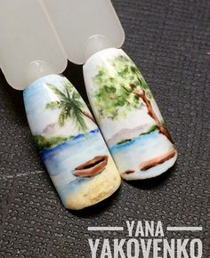 Gel Nails, Manicure, Nail Art, Pergola, Summer, Fingernail Designs, Sketches, Paisajes, Drawing Rooms