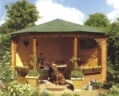 Prieeltje / paviljoen model Goudplevier afmetingen 358 x 358 cm van Woodvision
