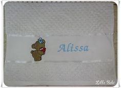 Toalha de lavabo personalizada ursinha