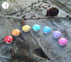 Rainbow Teeny Tiny Toadstools by Stone Lodge Crafts! More ready made products available over in our Etsy store - https://www.etsy.com/uk/shop/StoneLodgeCrafts