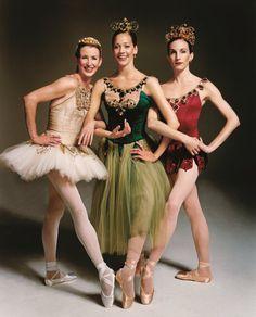 "Darci Kistler, Maria Kowroski and Wendy Whelan, ""Diamonds"", ""Emeralds"" and ""Rubies"" from ""Jewels"" by George Balanchine, New York City Ballet. © Joseph Cultice"