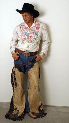 """""""Fancy Dude Cowboy,"""" a sculpture by Duane Hanson."""