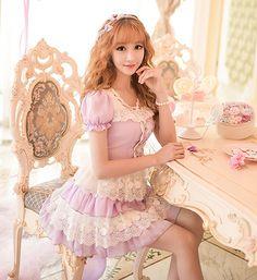 "Japanese sweet princess lace dress $62.00 enter ""thingsfromjapan"" for 10% off http://thingsfromjapan.net/japanese-sweet-princess-lace-dress/ #Japanese dress #Japanese fashion #kawaii"