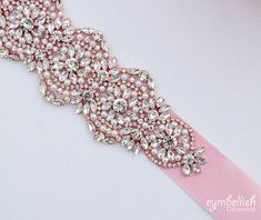 Rose Gold Bridal Belt Champagne Wedding Belt Bridal Sash
