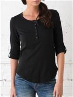 NWOT Black Henley Classic and comfortable. Black Henley shirt in cotton jersey with buttons at front. Long sleeves with roll-up tab and button. H&M Tops Tees - Long Sleeve Clothing Logo, Clothing Company, Alternative Outfits, Alternative Apparel, Shirt Embroidery, Embroidered Clothes, Henley Shirts, How To Roll Sleeves, Custom Clothes