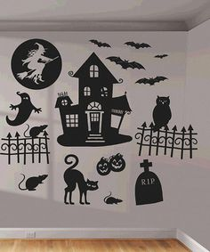 Take a look at this Cheerful Halloween Wall Decal Set I bought at zulily today!