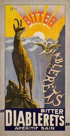 Bitter Diablerets, apéritif sain by Rouge Frederic / 1908