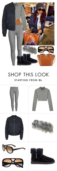 """""""Navy & Grey."""" by dopegenhope ❤ liked on Polyvore featuring H&M, Forever 21, Topshop, Givenchy, UGG Australia, Valentino, westbrooks, indialove, indialovewestbrooks and illyil"""