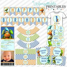 Dinosaur Train Birthday Party Printable Package by SealsItWithAKiss on Etsy Trains Birthday Party, Elmo Birthday, Dinosaur Birthday, First Birthday Parties, Birthday Ideas, Dino Train, Dinosaur Train Party, Party Printables, Seals