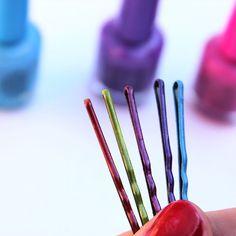 DIY: nail polish bobby pins