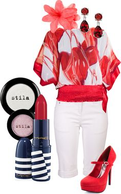 """""""Red & White"""" by randomlylogical on Polyvore"""