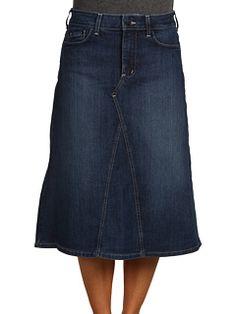 Swinging Gray Long Denim Skirt | Denim | Pinterest | My mom, Mom ...