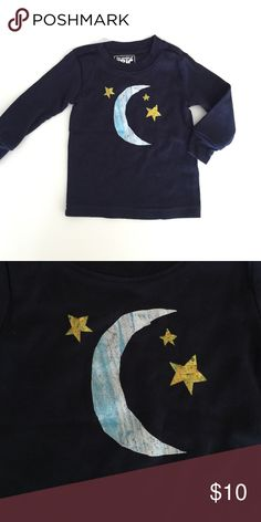Eric Carle Gymboree navy long sleeve moon 6-12m Adorable long sleeve in great condition. Runs small. Bundle to save 25%! Gymboree Shirts & Tops Tees - Long Sleeve