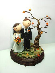 Custom Fall Wedding Cake Topper LOVE THIS!!!