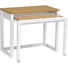 Pull out table in desks crate and barrel for Small pull out desk