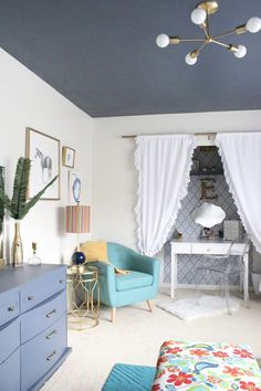 bedroom-colorful-modern-teen-bedroom-reveal-bedroom-redo-teen-bedroom-kids-bedrooms-modern-decor-color-gold-decor-home-decorating-bedroom-redecorating-one-room-challenge- gold- accessories- closet makeover- vanity