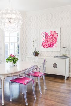 LIKEtoKNOW.it York Wallcoverings Carey Lind Watercolors White and Grey Large Lattice Wallpaper