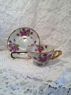 Vintage Bone China Mother of Pearl Lusterware by TheRainyDayShop