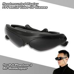 Head-mounted Display FPV Aerial Video 3D Glasses for DJI Phantom 3 RC Quadcopter