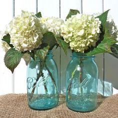 "Simple mason jars & flowers from beachcomber ("",)"