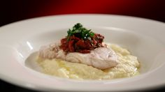 Snapper with Celeriac Mash and Roasted Capsicum Salsa