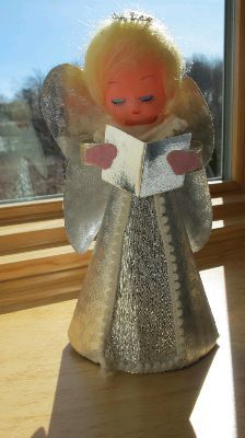 Vintage Tree Topper Paper Angel 1950s Nice Condition | eBay