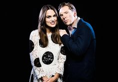 "benedictdaily: "" Benedict Cumberbatch and Keira Knightley photographed by Jay L. Clendenin for Los Angeles Times (2014) """