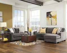 Ashley Hodan Marble Gray Sofa Chaise Loveseat Chair Living Room Set 7970018 35