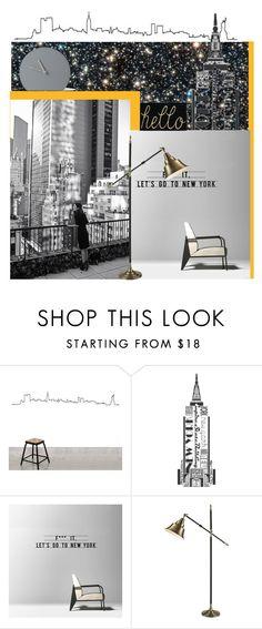 """Let's go .."" by vervetandhowler ❤ liked on Polyvore featuring interior, interiors, interior design, home, home decor, interior decorating, Dot & Bo, Menu, Newyork and interiordecor"