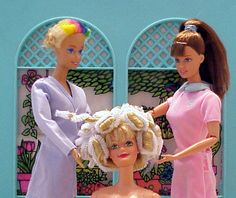 Curling barbie hair  (by Contact Me)