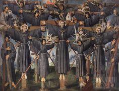 Mártires franciscanos en el Japón | Lázaro Pardo Lagos : Archivo Digital de Arte Peruano - MALI