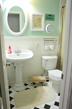 Bathroom Ideas Mint Green pastel bathroom ideas | mint green walls, green walls and white