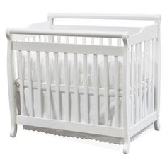 mini crib in espresso! Done! Converts to twin beds, perfect