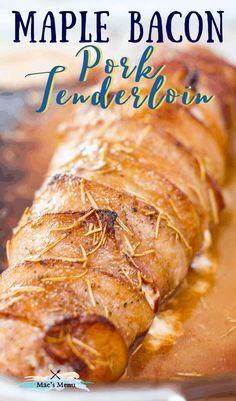 Maple bacon Wrapped Pork Tenderloin is a juicy roast meat recipe that's perfect for easter, dinner parties, and sunday dinner. This main course recipe is a hit. Try it today! #pork #porktenderloin #bacon #maple #easterdinner #maincourse Healthy Pork Recipes, Pork Recipes For Dinner, Healthy Meats, Meat Recipes, Roast Meat Recipe, Best Pork Recipe, Bacon Wrapped Pork Tenderloin, Maple Bacon, Roasted Meat