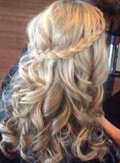 Braid, pretty wedding hair
