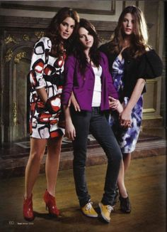 "Nikki Reed, Kristen Stewart, and Ashley Greene in a photo shoot for ""Teen"" magazine 2008........"