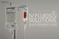 IV Fluids and Solutions Quick Reference Guide Cheat Sheet - Nurseslabs
