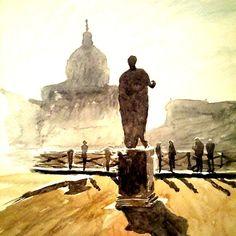 'Rome cityscape watercolor' by Marko Ivancevic Rome Art, Watercolour Painting, Skyline, Art Prints, Paintings, Etsy, Vintage, Shirt, Travel