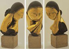 Constantin Brancusi - Mademoiselle Pogany Bronze with black patina Rodin, Modern Art, Contemporary Art, Constantin Brancusi, Post Impressionism, Installation Art, Art Forms, Female Art, Painting & Drawing