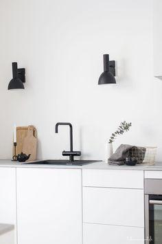 the white kitchen, scandinavian kitchen, modern kitchen, kitchen details Kitchen Buffet, Kitchen Chairs, Kitchen Furniture, New Kitchen, Kitchen Decor, Kitchen White, Kitchen Ideas, Kitchen Paint, Kitchen Flooring