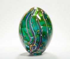 Peter Layton glassware Homage to Hockney  The combination of colours is fabulous and the swirling organic forms