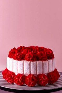 SIGNATURE – Ms B's CAKERY Pacific Place, Cake Name, Sugar Art, Happy Anniversary, Cherry Blossom, Raspberry, Ms, Desserts, Food