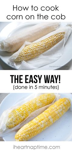 How to cook corn on the cob in 5 minutes flat! #tips