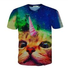 23b32ace1bed6 Alisister New Fashion Women men Funny Cat T Shirt Print Animal T-shirt  Casual Mens Cartoon T Shirt Fighting Cat Tee Shirts