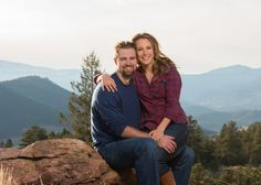 Mount Falcon Park Fall Engagement Colorado Mountains in Lap