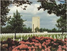 The Netherlands American Cemetery and Memorial near Maastricht, where many of those killed during Operation Market Garden are buried. Veterans Day Usa, Operation Market Garden, Military Cemetery, American Cemetery, National Cemetery, American Soldiers, Memorial Day, American History, Wwii