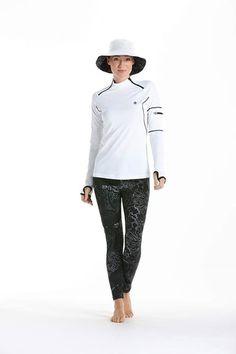 We're loving our new swimwear print, Sea Splash! http://www.coolibar.com/category/Women/Swimwear/pc/2240/2186.uts #Coolibar #Swim